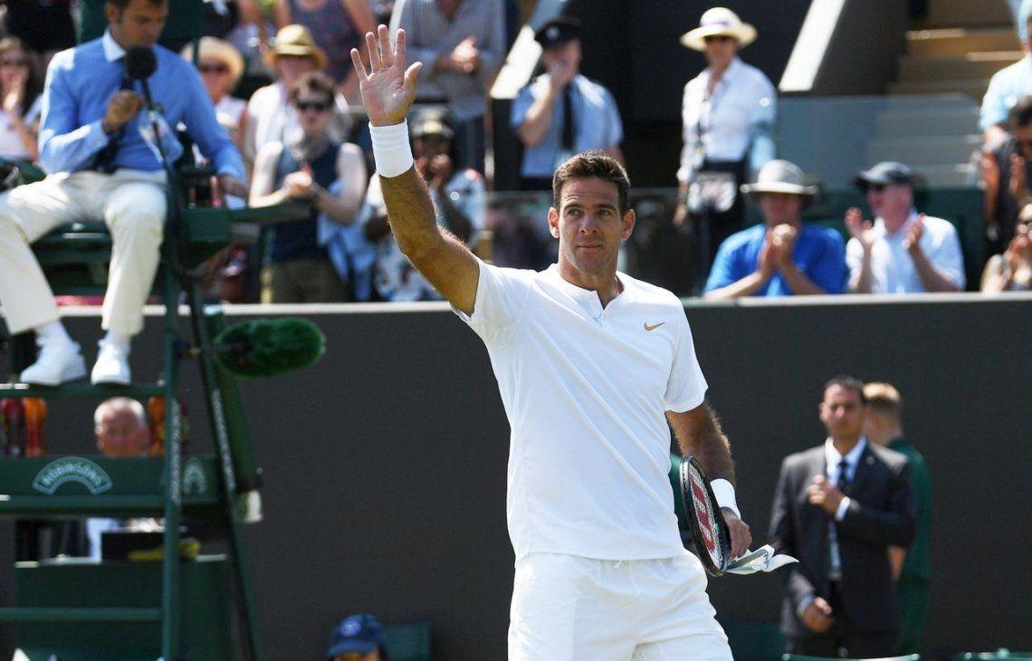 Del Potro y un buen triunfo para comenzar Wimbledon