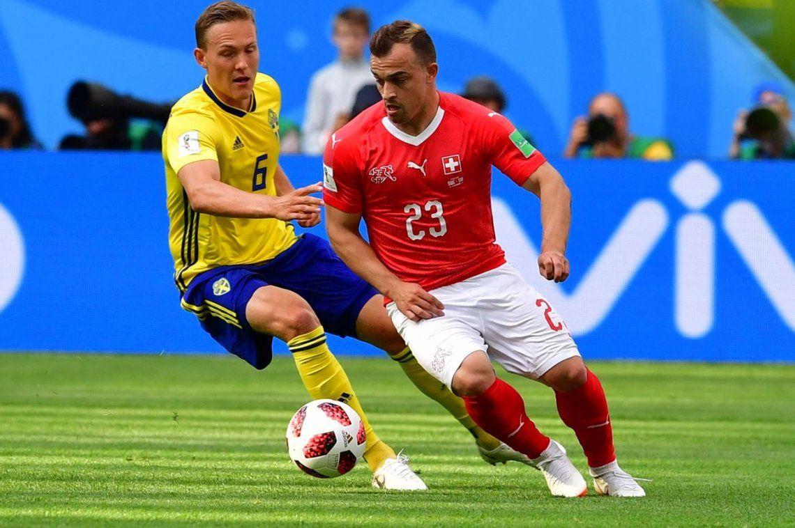 Suecia le ganó con lo justo a Suiza y pasó a cuartos de final