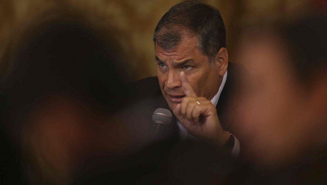 Piden a Interpol el arresto de Rafael Correa, ex presidente de Ecuador