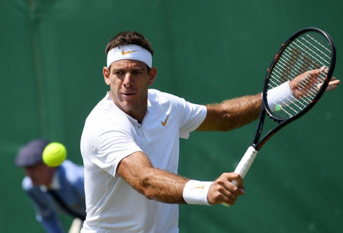 Del Potro aplastó a Feliciano López y avanza a la tercera ronda en Wimbledon