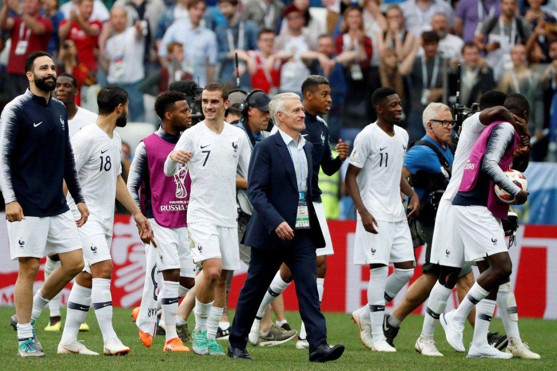 Francia venció a Uruguay y es semifinalista del Mundial