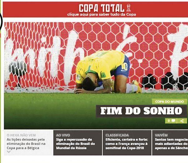 La prensa de Brasil fue muy dura tras la eliminación