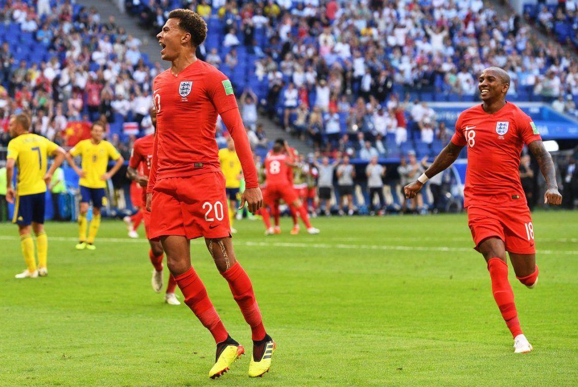 Inglaterra le ganó a Suecia con dos cabezazos y es semifinalista de Rusia 2018