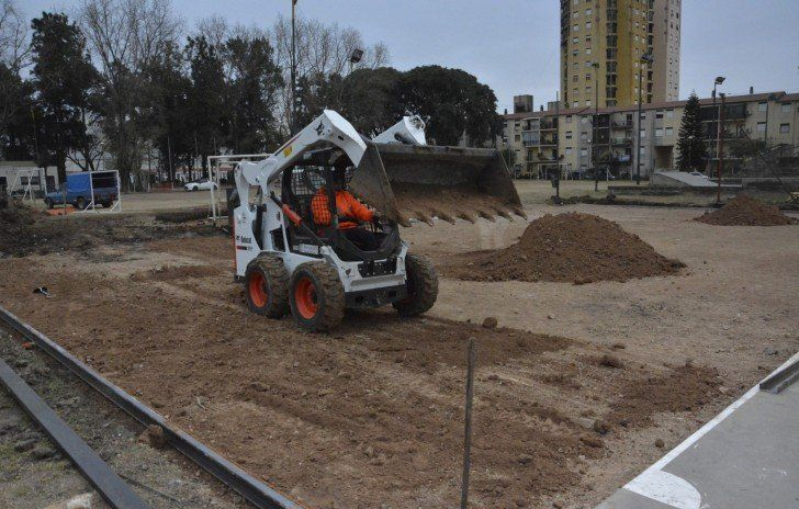 Comenzó la obra de renovación del Parque José Hernández