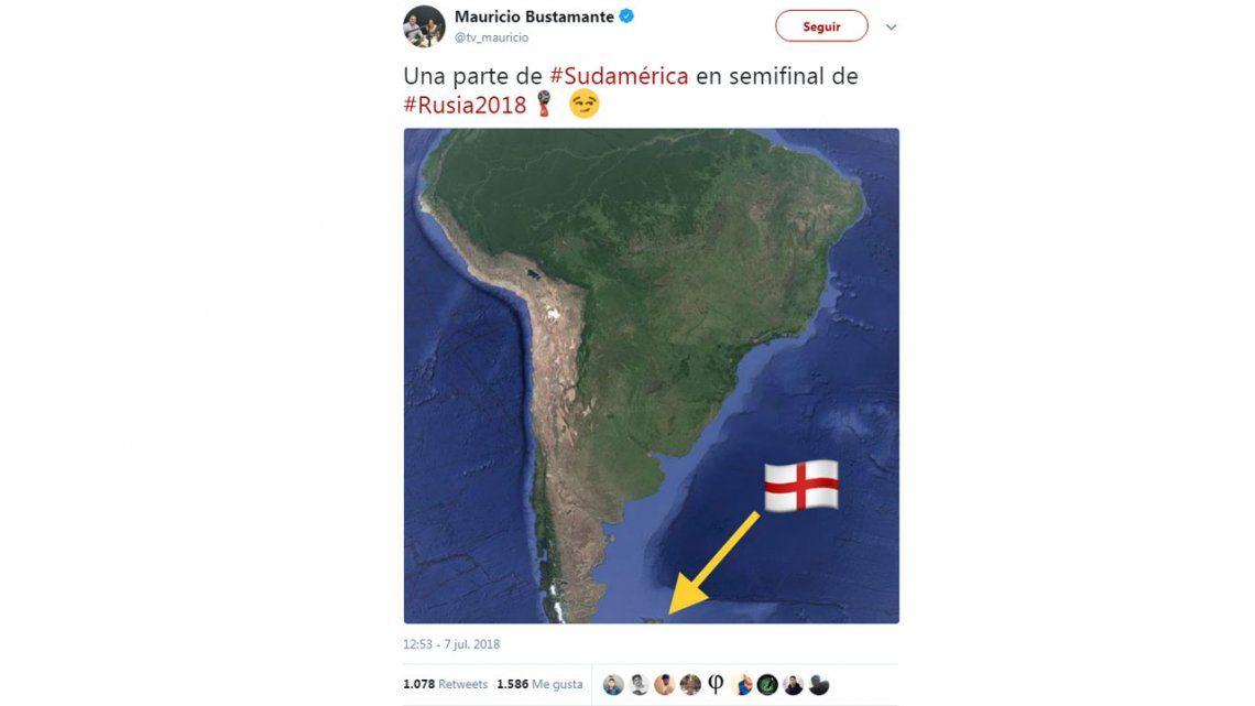 El provocativo tuit de un periodista chileno con el Mundial y las Malvinas