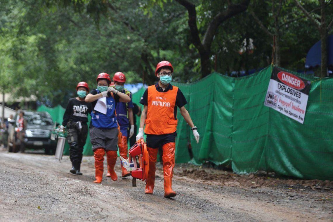 Las imágenes del dramático rescate en Tailandia