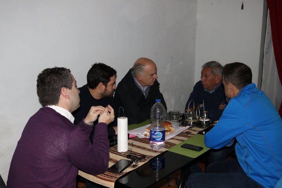 Grindetti recorrió obras junto a Tito Chazarreta