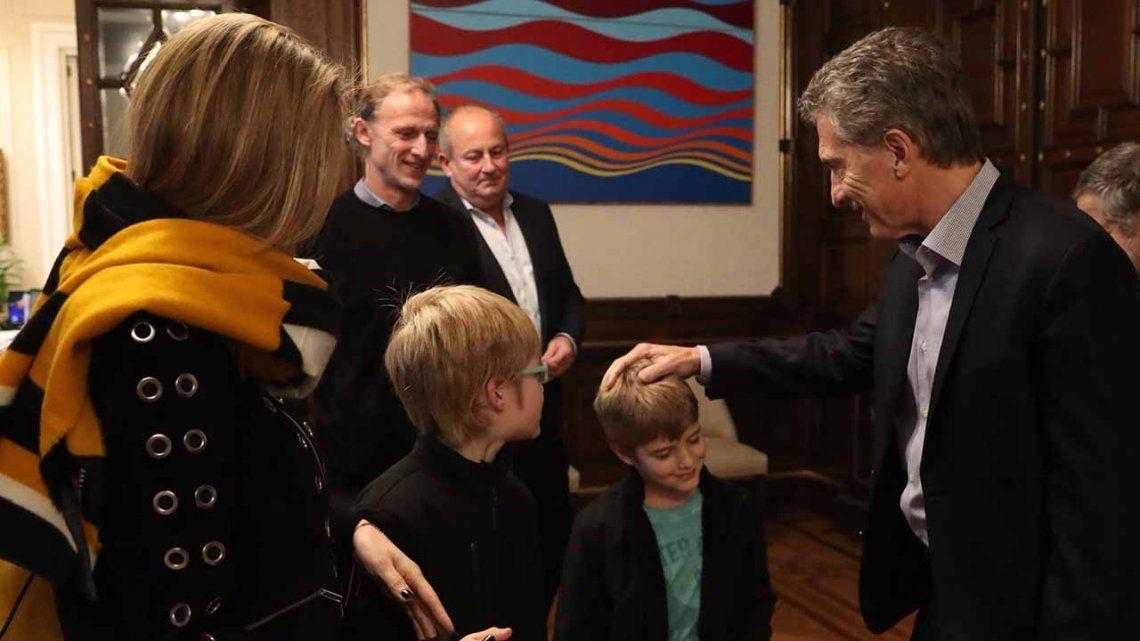 Macri recibió a los padres de Justina Lo Cane