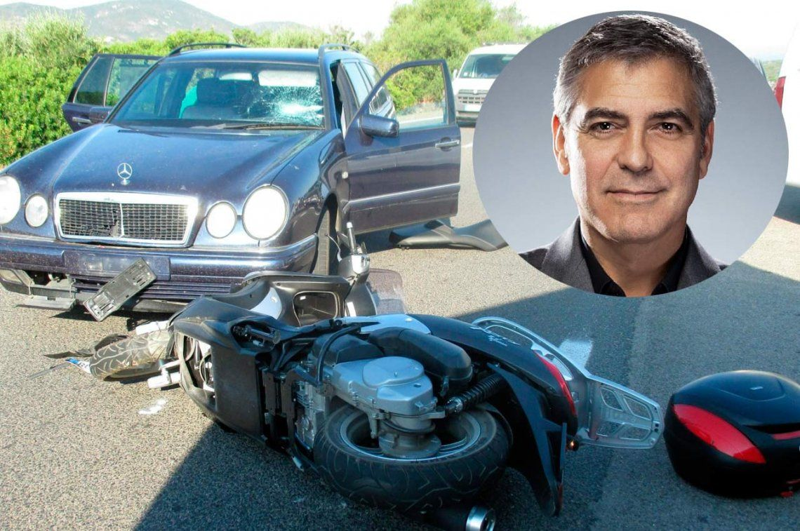 Video | Así fue el terrible accidente de George Clooney en Cerdeña