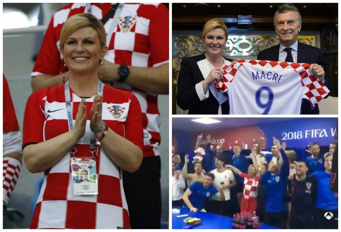 Kolinda Grabar-Kitarović, la presidenta de Croacia que es fanática del fútbol y cautiva en las redes sociales