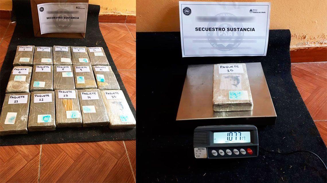 Abrevalijas: hallan 16 kilos de cocaína en la casa de un empleado de Aerolíneas