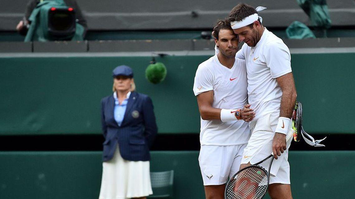 Del Potro perdió ante Nadal en cinco sets en cuartos de final de Wimbledon