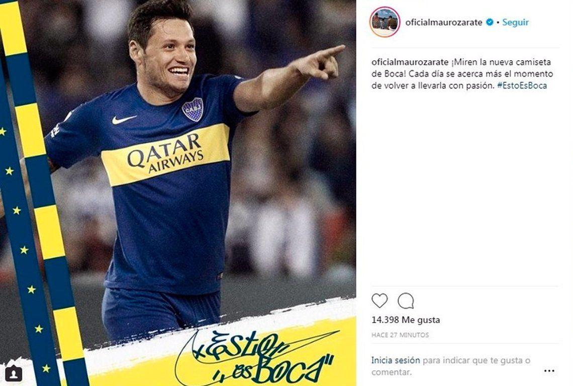 f2d61753e169a Polémico fotomontaje  ¿Mauro Zárate confesó su amor por Boca ...