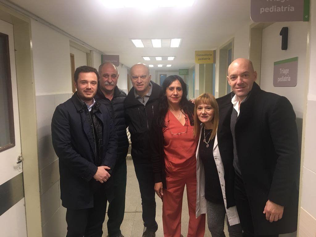Grindetti y Scarsi recorrieron las obras del Hospital Narciso López
