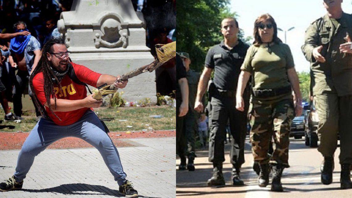 Bullrich sobre el militante del mortero: Si es tan valiente que venga y declare