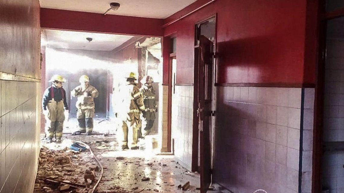 Una pérdida de gas en un calefactor habría ocasionado la explosión en la escuela