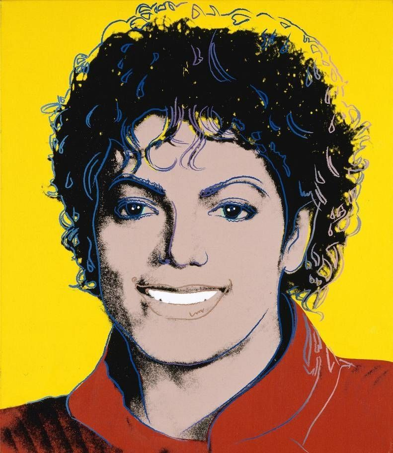 Michael Jackson por Andy Warhol 1984.