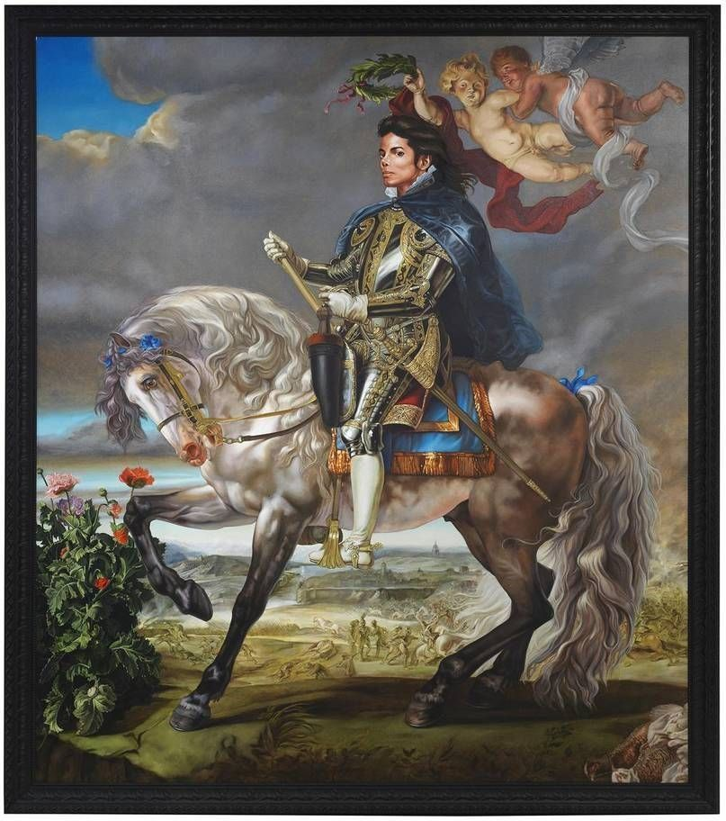 Equestrian Portrait of King Philip II por Kehinde Wiley 2010.