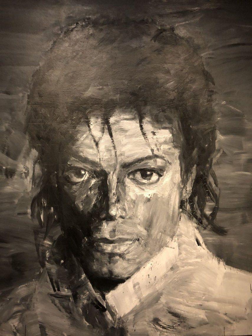 A Memory of Michael Jackson por Yan Pei-Ming