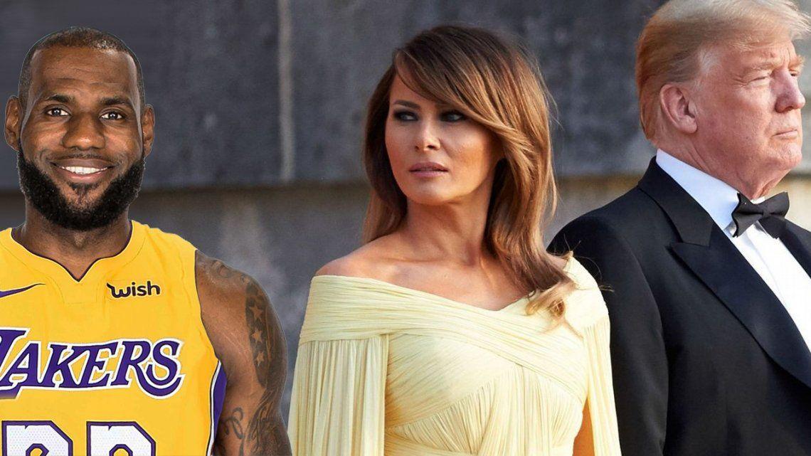 En la pelea entre su marido y Lebron James, Melania Trump eligió al basquetbolista