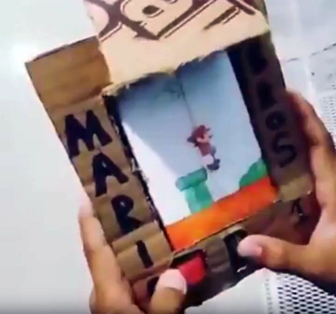 Inventó una versión artesanal de Mario Bros y es furor en las redes