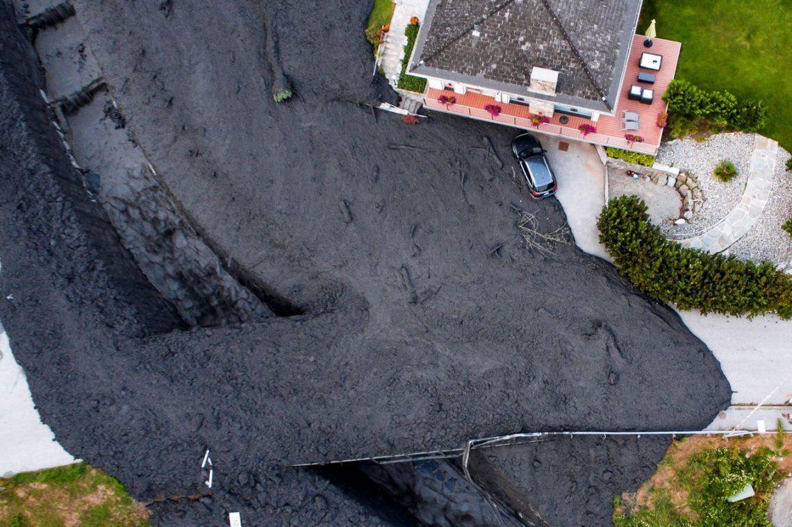Video | Impactante erupción de lava en un pueblo de Suiza