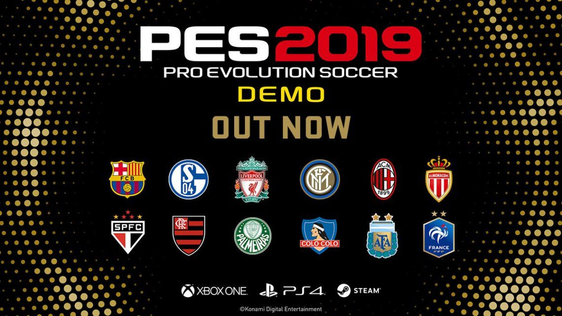 Atención gamers: ya está disponible la demo del PES 2019