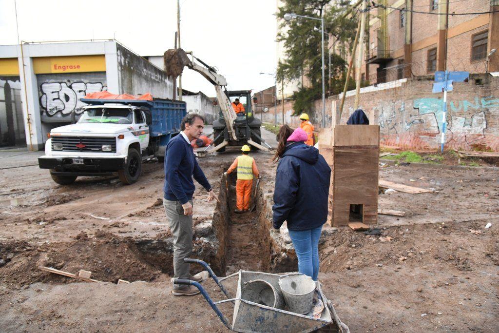 Katopodis recorrió obras hidráulicas en Villa Lynch