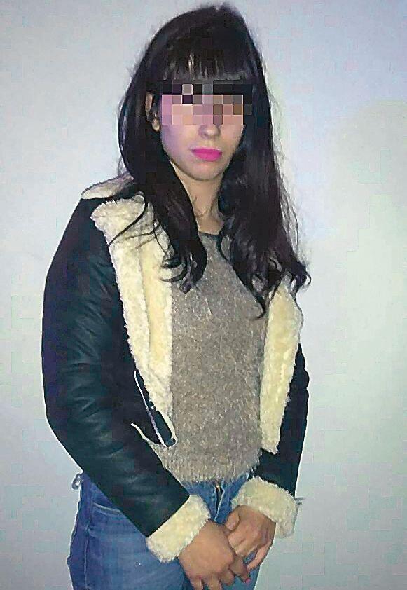 dLa mujer detenida.