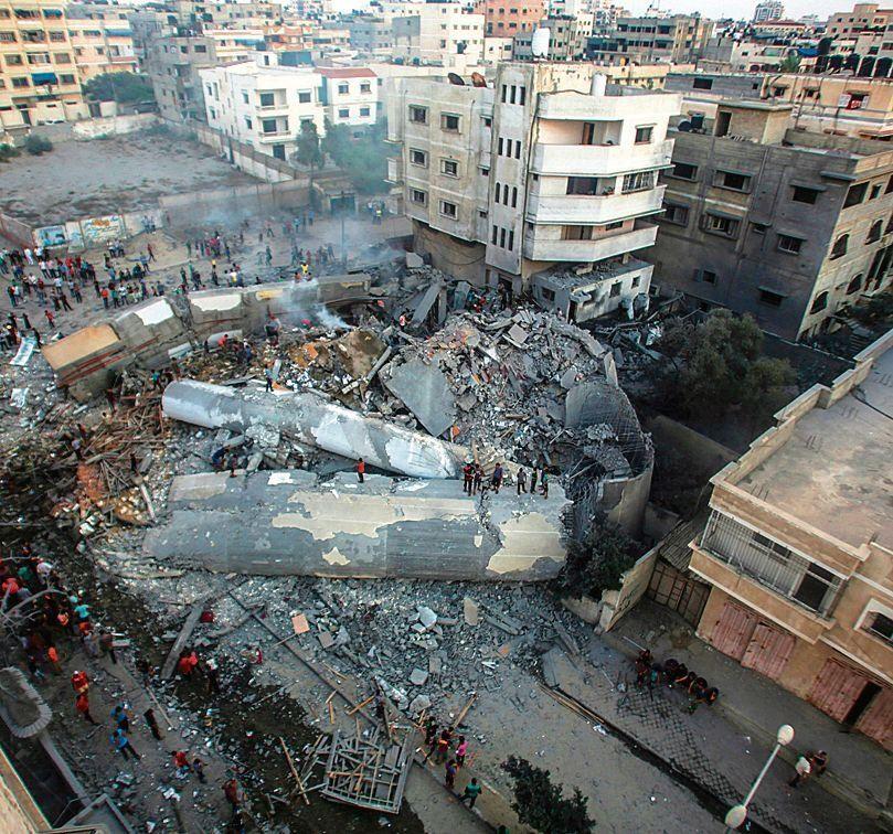 dEl Centro Cultural Said Meshal en Gaza