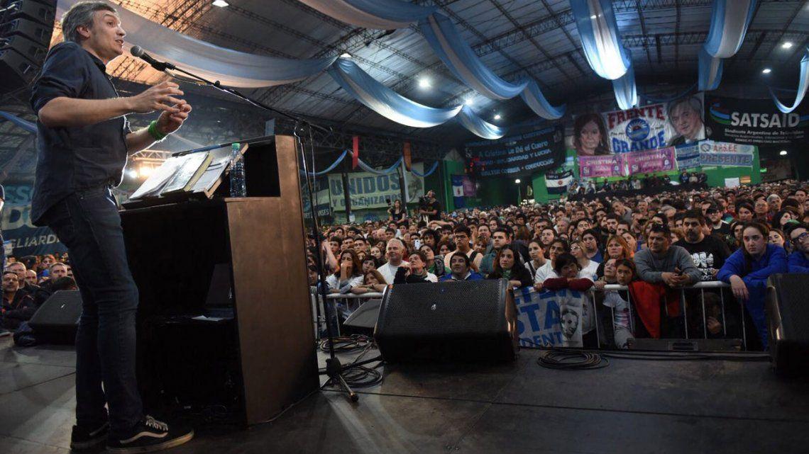 Con Máximo Kirchner a la cabeza, Unidad Ciudadana llamó a construir lo que viene