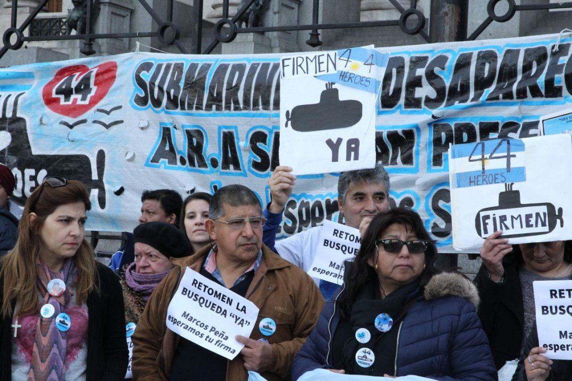Prohibido olvidar, el grito de las familias de los tripulantes del submarino Ara San Juan