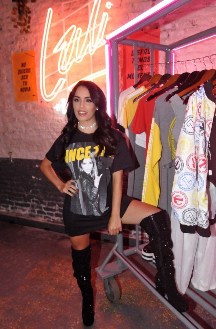 Lali Espósito presentó su línea de ropa junto a 47st