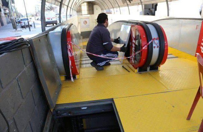 Sabotaje en las rampas mecánicas de la estación de Lanús