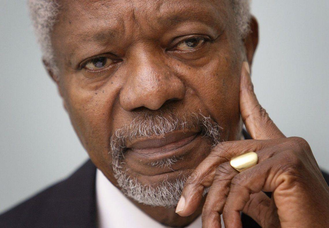 Murió Kofi Annan, Nobel de la Paz y ex secretario general de la ONU