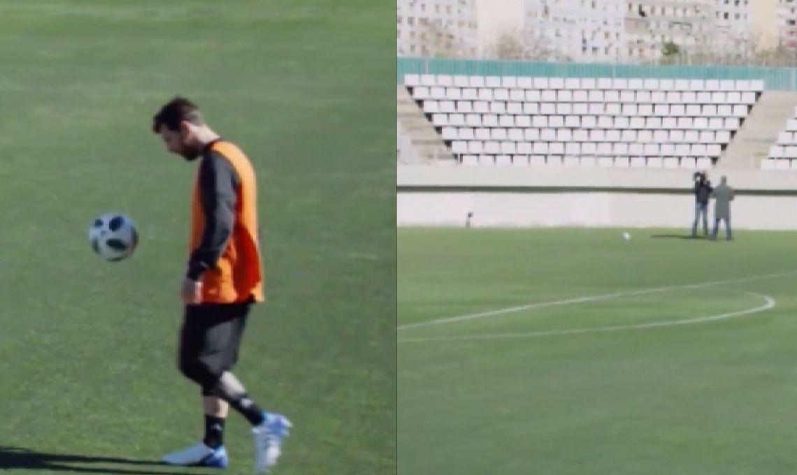Video | Real o fake: Messi le hizo un caño imposible a un periodista que se hizo viral