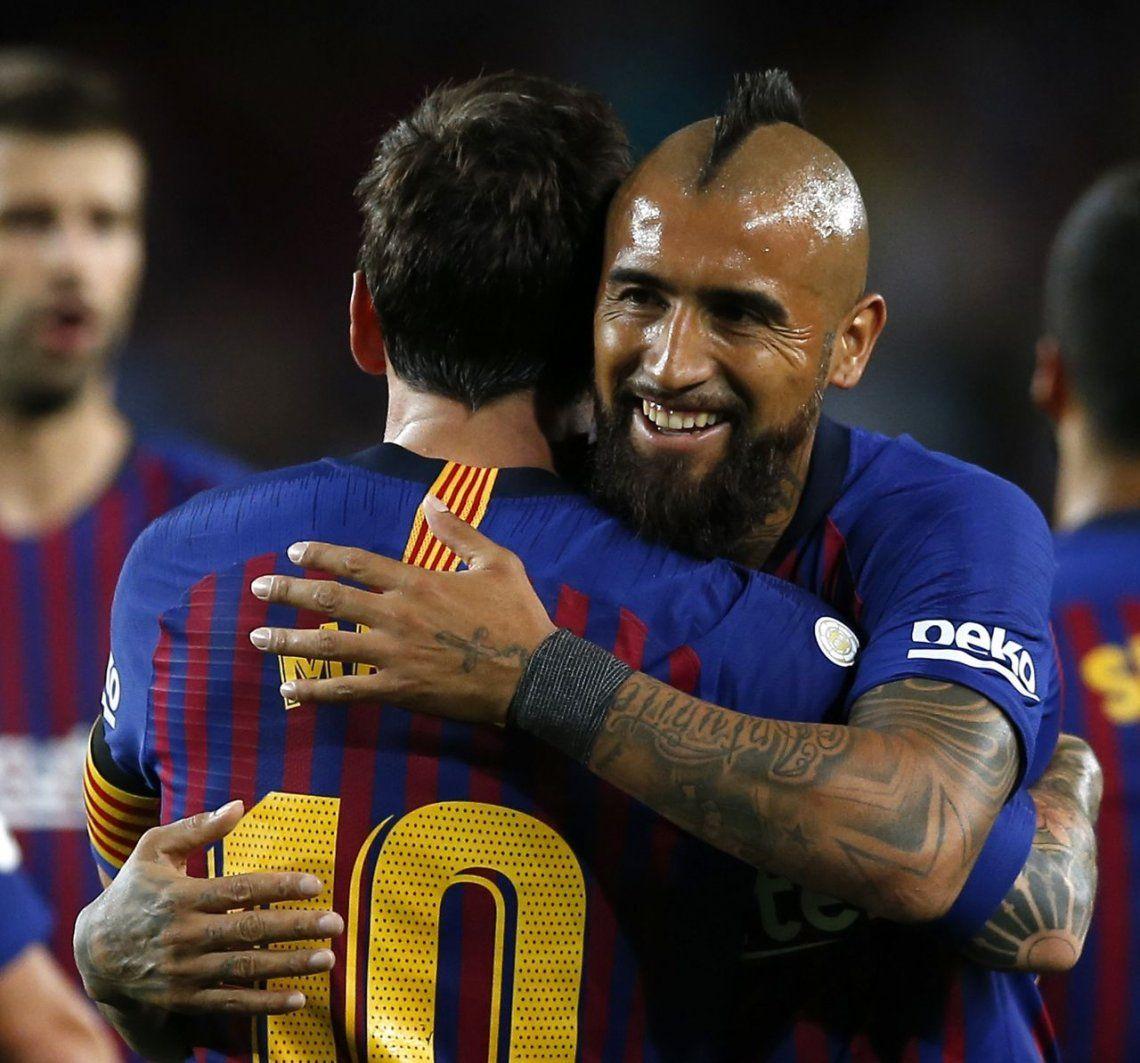Messi arrancó con todo: doblete y goleada de Barcelona sobre Alavés