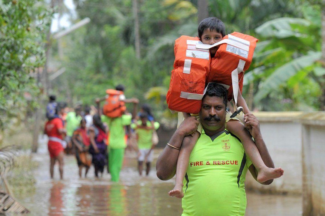 Las peor inundación en India en 100 años, en fotos