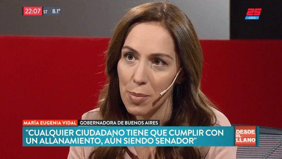 Allanamiento a Cristina: Vidal le pidió al Senado que reflexione