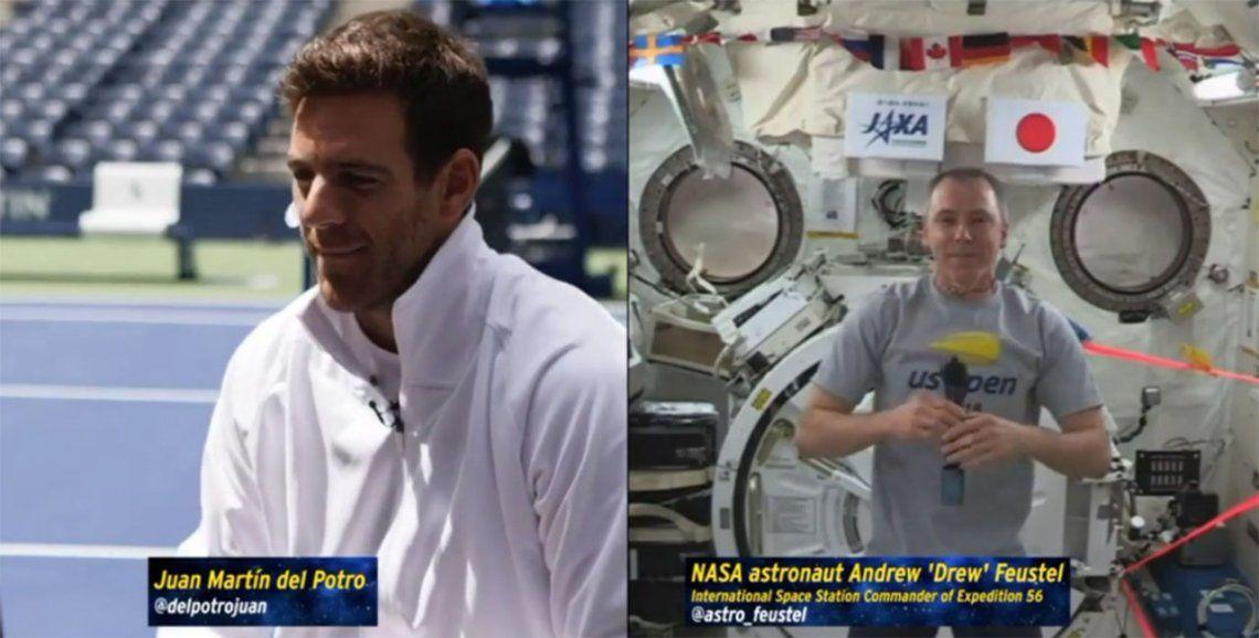Los imperdibles consejos de Del Potro a un astronauta que está en la Estación Espacial Internacional