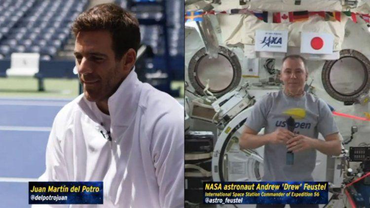 Los imperdibles consejos de Del Potro a un astronauta que está en el Espacio