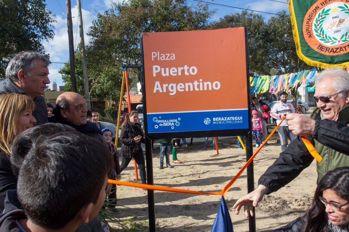Inauguraron la renovada Plaza Puerto Argentino de Sourigues