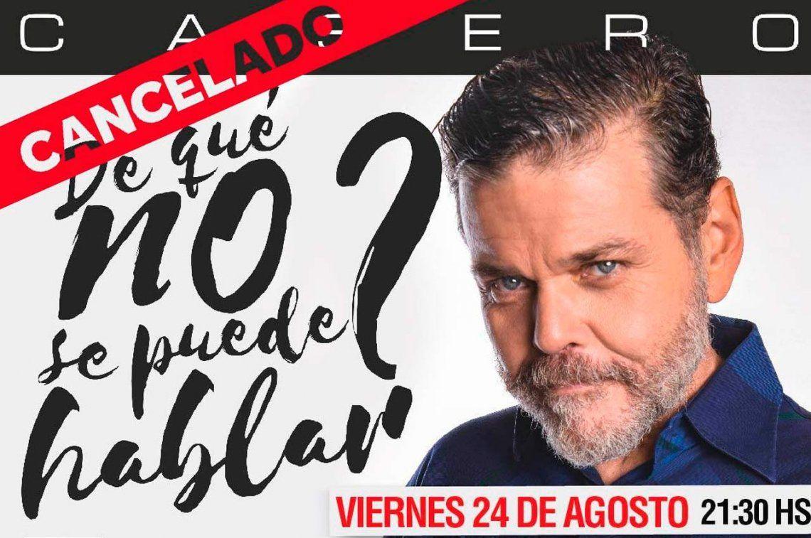 Sin el flan y sin la torta: le cancelaron una función a Alfredo Casero en Salta