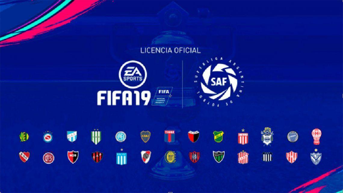 EA Sports confirmó que el FIFA 19 incluirá a la Superliga Argentina