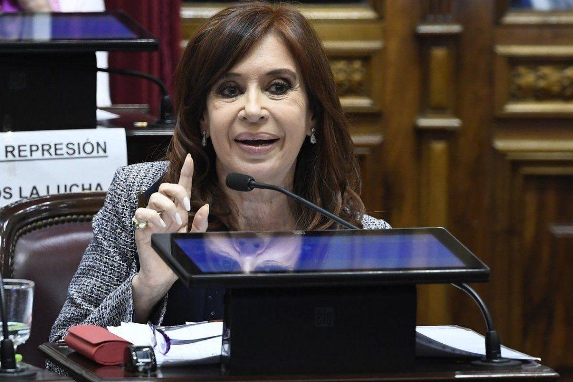 Cristina Kirchner habla en el Senado sobre sus allanamientos: No me arrepiento de nada