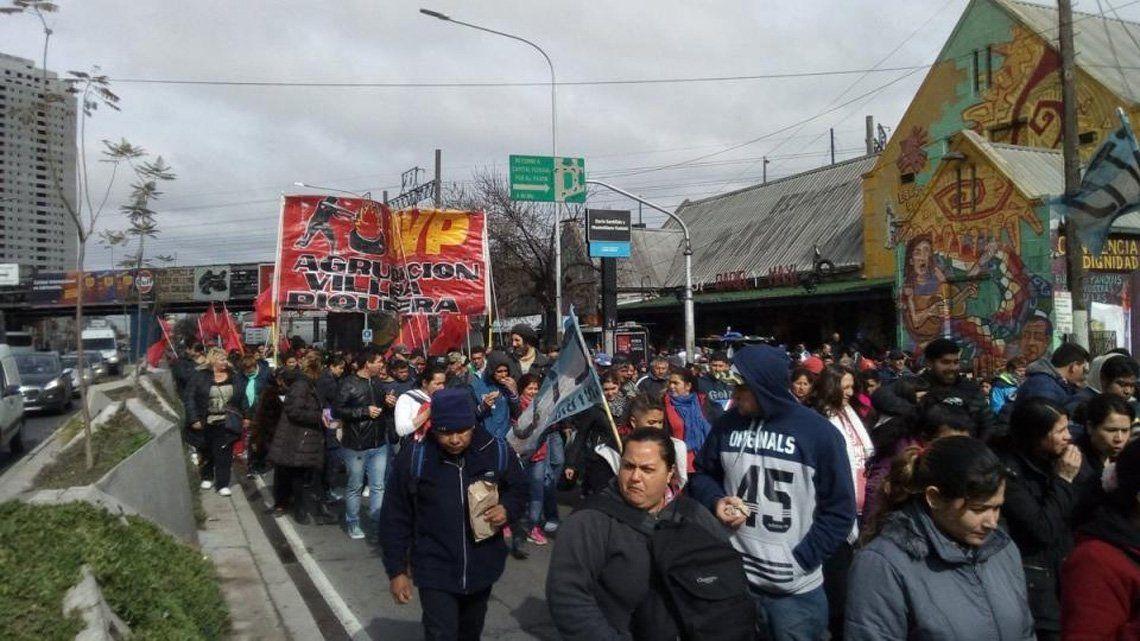 Organizaciones sociales protestaron en todo el país