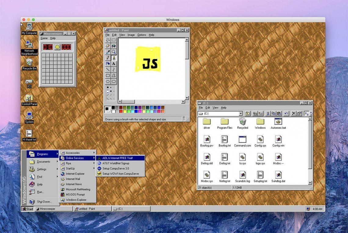Atención nostálgicos: volvió Windows 95 y en forma de aplicación