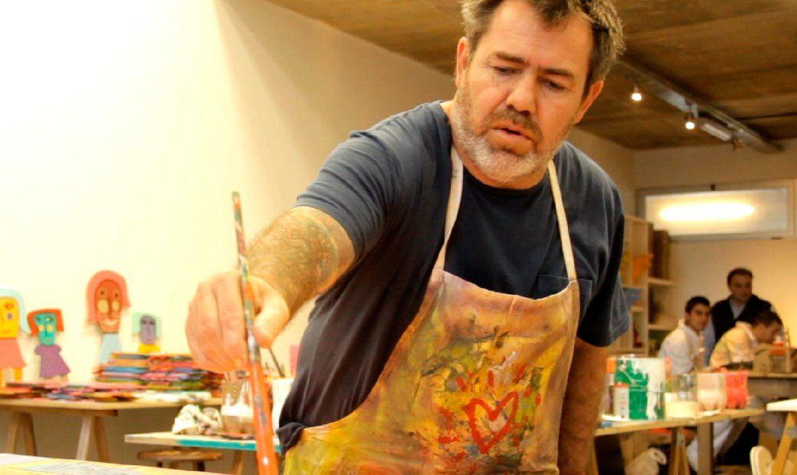 Milo Lockett pintó un mural para generar conciencia sobre el Alzheimer