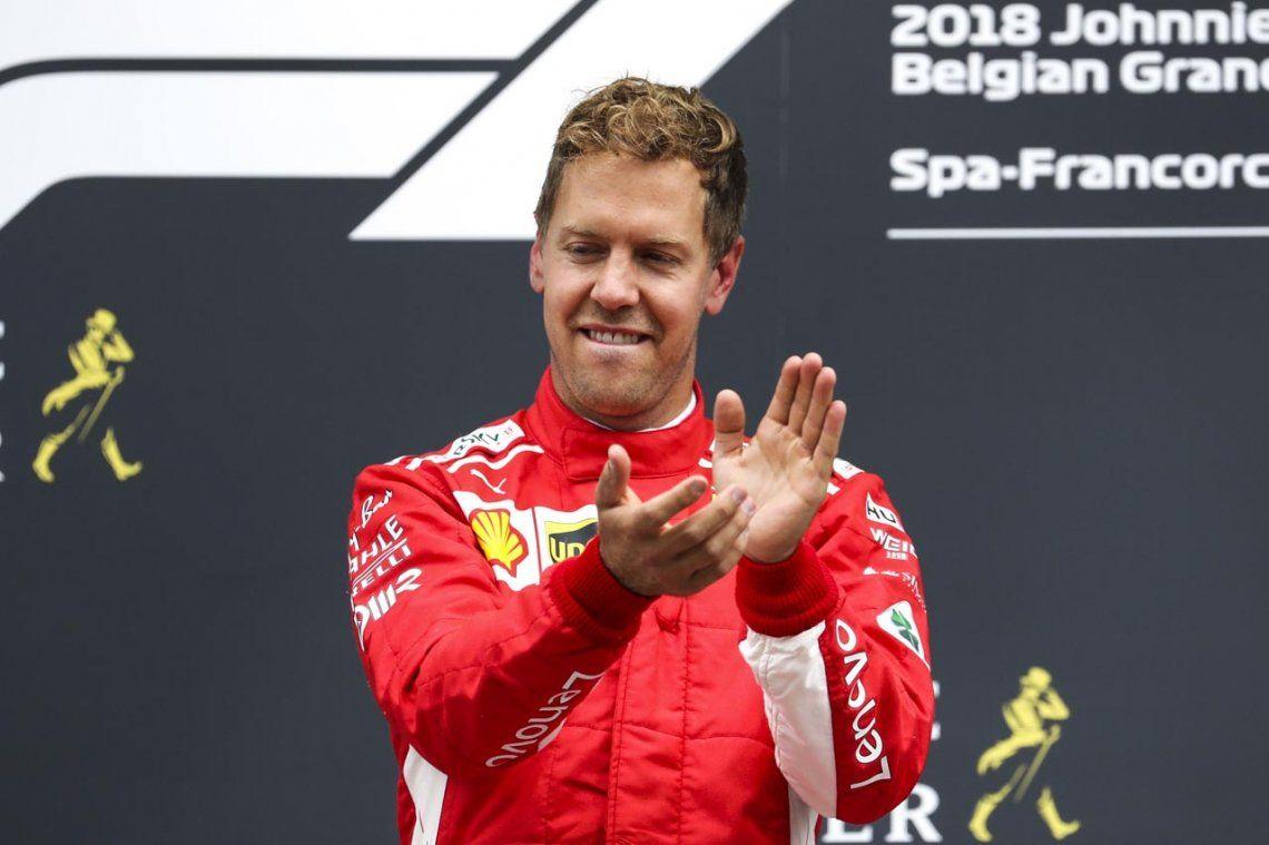 Sebastian Vettel, ganador en el GP de Bélgica; Hamilton, segundo