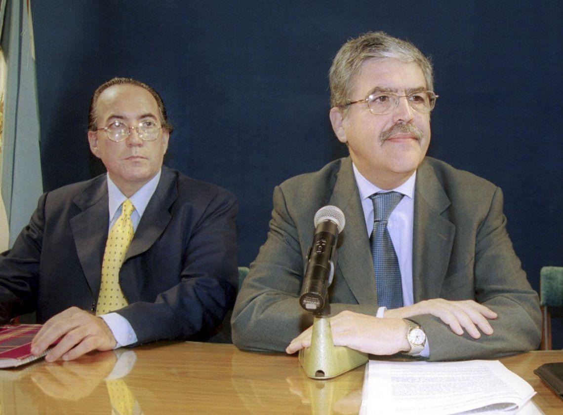 Oscar Thomas junto a Julio De Vido.